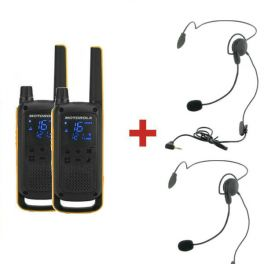 Motorola TLKR T82 Extreme + 2 Auriculares de nuca