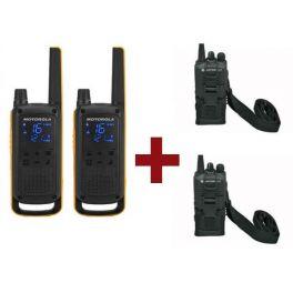 Motorola Talkabout T82 Extreme x 2 + Fundas x 2
