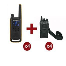 Motorola Talkabout T82 Extreme x 4 + Fundas x 4