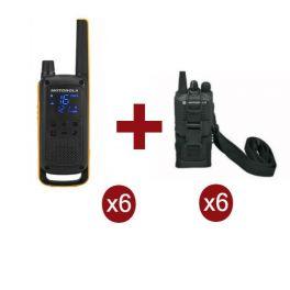 Motorola Talkabout T82 Extreme x 6 + Fundas x 6