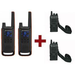 Motorola Talkabout T82 x 2 + Fundas x 2