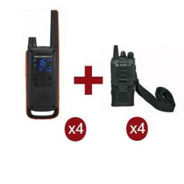 Motorola Talkabout T82 x 4 + Fundas x 4