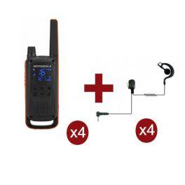 Motorola TLKR T82 x 4 + Kit Bodyguard x 4