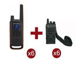 Motorola Talkabout T82 x 6 + Fundas x 6