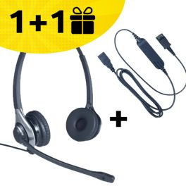 Con un pack auricular Cleyver HC45 + cable, el 2º pack gratuito