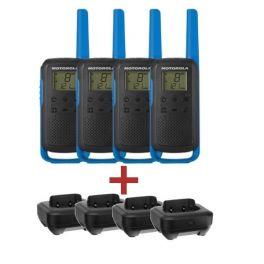 Pack Quarteto Motorola T62 Azul + 4 bases de carga