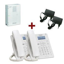 Centralita Panasonic KX-HTS32 + Panasonic KX-HDV130 Blanco + 2 alimentadores A423X