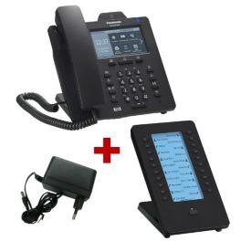 Panasonic KX-HDV430 Negro con alimentación + expansión de teclado