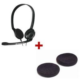 Cascos Sennheiser PC 3 Chat con 2 almohadillas de repuesto