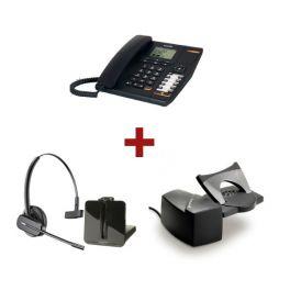 Alcatel Temporis 880 + Auricular Plantronics CS540 + Descolgador