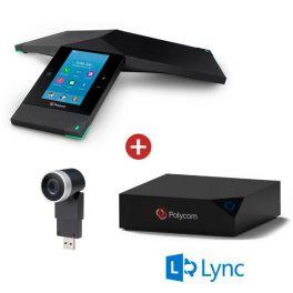 Realpresence 8800 Trio + opción de compartir contenido + cámara Mini EagleEye Full HD para videoconferencia - Versión Skype for Bussines