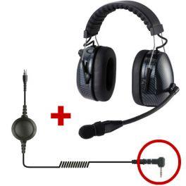 RTC HRT3000 - Auricular de protección auditiva con cable Motorola 1 pin