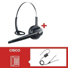 Pack Sennheiser D10 Phone con descolgador a distancia para Cisco 8941-8945