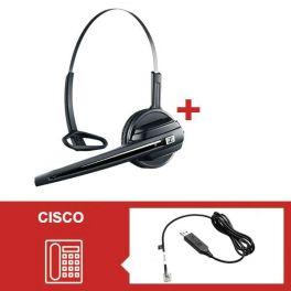 Pack Sennheiser D10 Phone con descolgador electrónico para serie Cisco 8900 y 9600