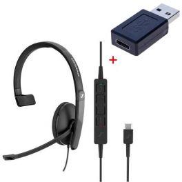 PACK: Sennheiser SC130 USB-C con adaptador USB-C a USB-A