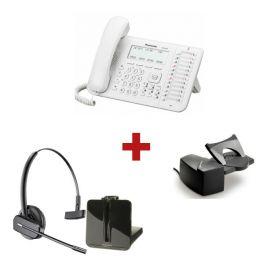 Panasonic KX-DT543 Blanco + sur. inalámbrico Plantronics CS540 + Descolgador a distancia Plantronics HL10