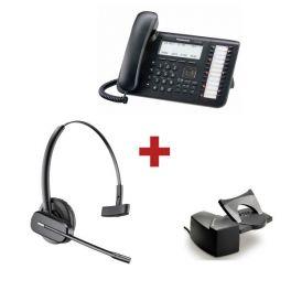 Panasonic KX-DT546NE + aur. inalámbrico Plantronics CS540 + Descolgador a distancia Plantronics HL10