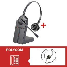 Pack de auriculares Cleyver HW25 para Polycom