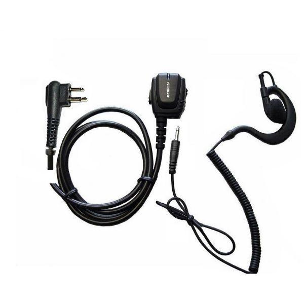 Micro-auricular ergonómico Motorola 2 pins + Auricular gancho