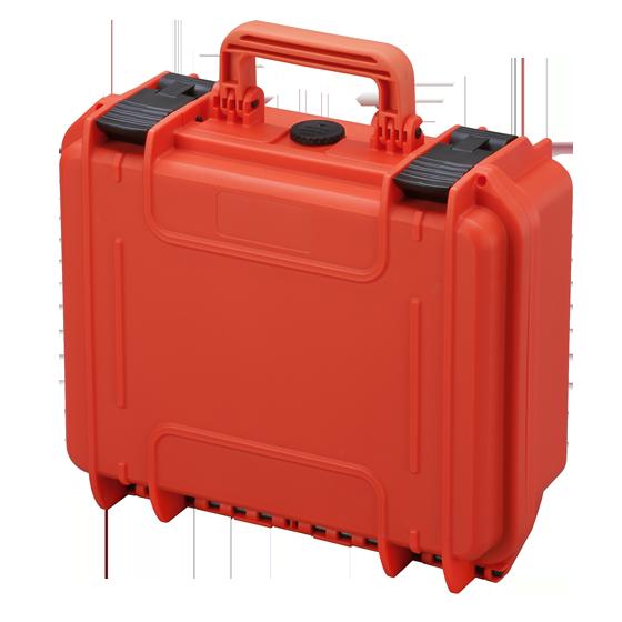 MAX300S Naranja – Maleta con espuma para walkie talkies