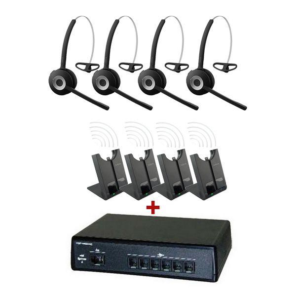 Pack comunicaciones Ligateam + 4 auriculares inalámbricos Jabra 920