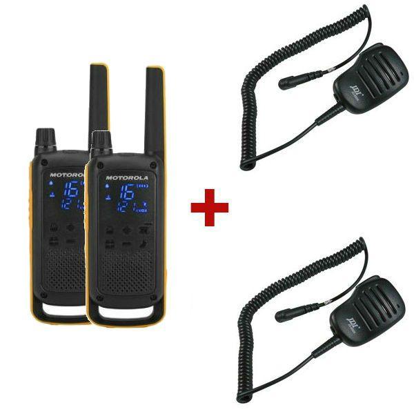 Motorola TLKR T82 Extreme + 2 Micrófonos de solapa