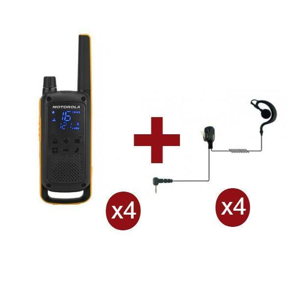Motorola Talkabout T82 Extreme x 4 + Kit Bodyguard x 4