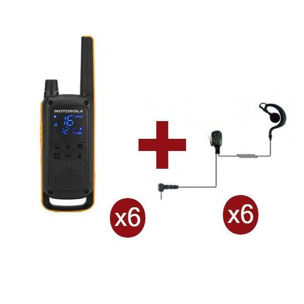 Motorola Talkabout T82 Extreme x 6 + Kit Bodyguard x 6