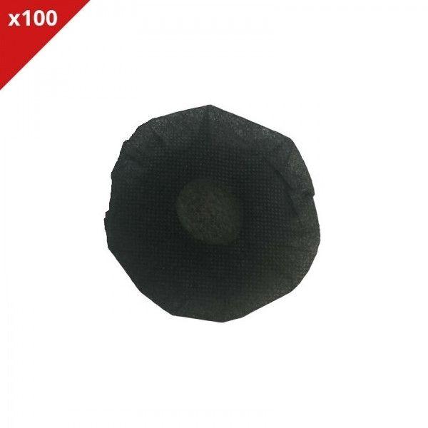 Almohadillas desechables negras - 100 uds