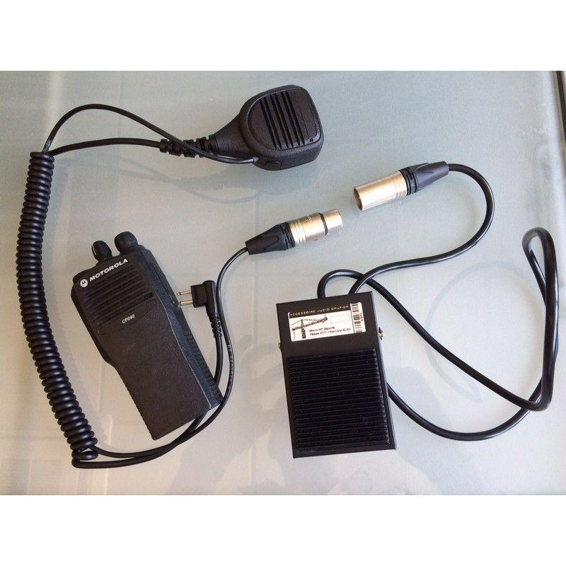 Pedal PTT para Motorola XT (conexión 2 pins)