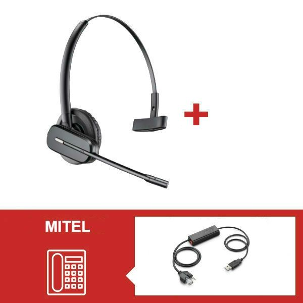 Pack Plantronics CS540 para teléfonos Mitel