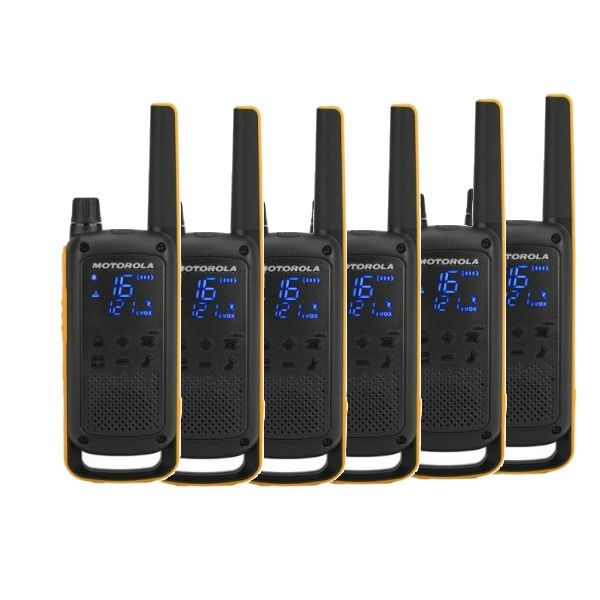 Pack sexteto Motorola Talkabout T82 Extreme