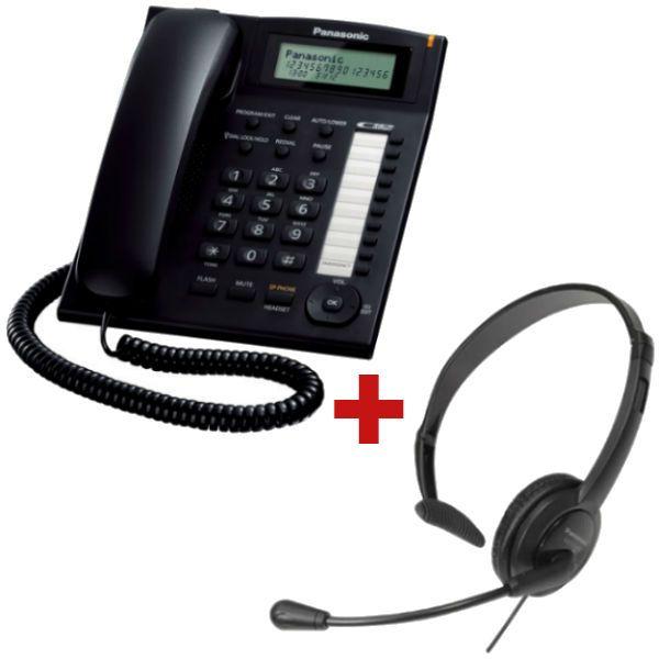 Panasonic KX-TS880 Negro + auricular Panasonic RP-TCA 400 (Jack 2.5 mm)