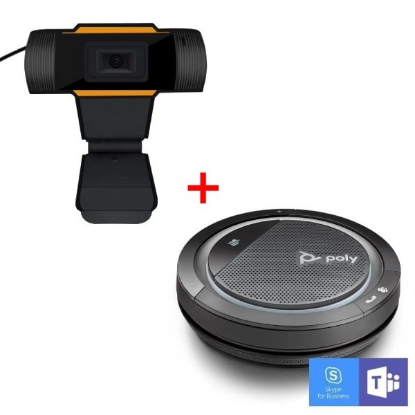 Poly Calisto 5300 USB-A con Webcam USB para PC