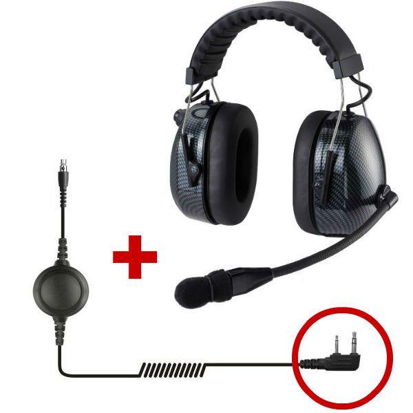Auricular de protección HRT3000 para Motorola 2 pins