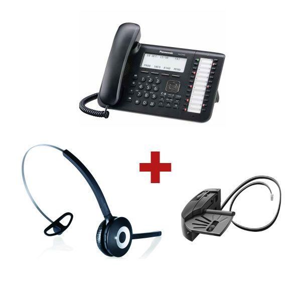 Panasonic KX-DT543 + aur. inalámbrico Jabra PRO 920 + Descolgador GN 1000 - GN Netcom