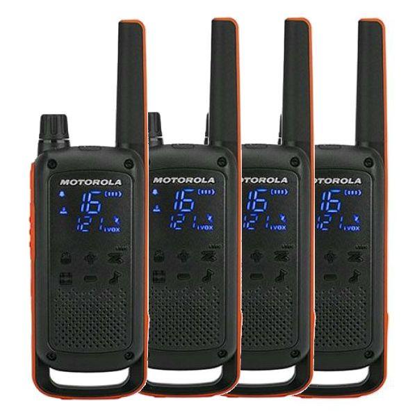 Pack cuarteto Motorola Talkabout T82 (2 pares)