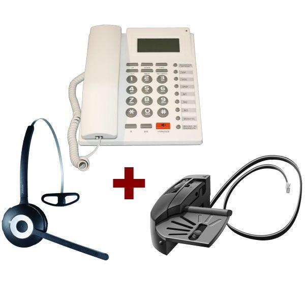 Teléfono PK-111C +Jabra PRO 920 + descolgador