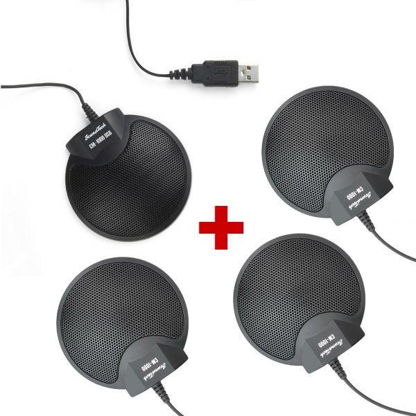 Micrófonos de grabación Soundtech 1000 USB + 3 Soundtech 1000