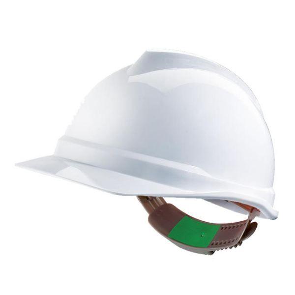 Casco MSA V-Gard - Sin ventilación con cierre Push Key- Blanco