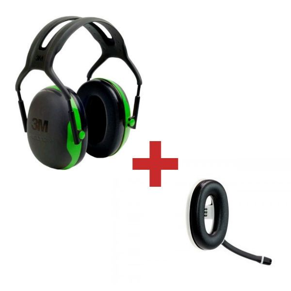 3M Peltor X1A + Micro-auricular Bluetooth