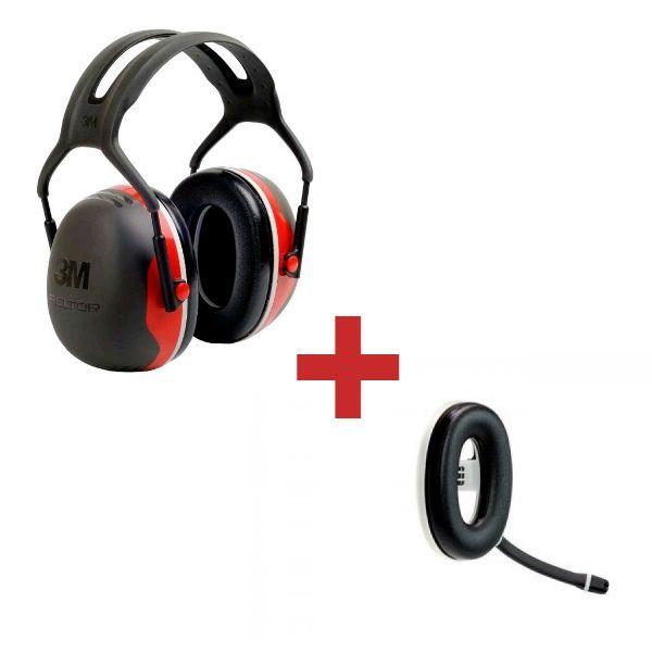 3M Peltor X3A + Micro-auricular Bluetooth