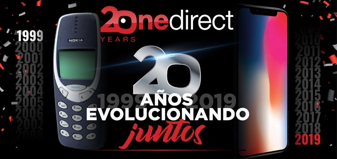 Folleto 20 Años Onedirect