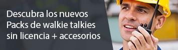 Packs walkie talkies con accesorios