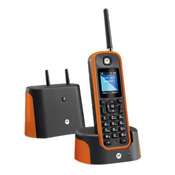 Motorola O201 color negro. Teléfonos inalámbricos de largo alcance: Motorola O201 color naranja