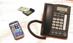 Teléfono fijo con tarjeta SIM