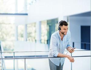 Auricular de oficina para dispositivos móviles